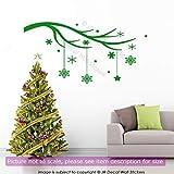 Winter Baum Zweig Wandkunst Aufkleber Weihnachten Schneeflocke Schaufenster Decor Vinyl abnehmbare Wandtattoo