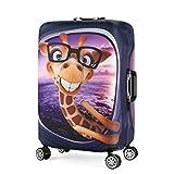 Wasserfest Print Trolley Case Schutzhülle für 22/23/24 Gepäck Spandex Waschbar Anti-Scratch Reise Koffer Protector M Giraffe