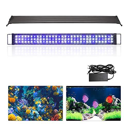 wolketon LED Aquarium Beleuchtung 48W Universal Aquarium Lampe LED Pflanze mit Verstellbarer Halterung für Süßwasser-Aquarien... -