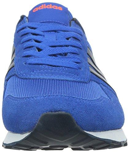 Adidas neo - 10k, Scarpe da ginnastica Uomo Blu (Blau (Blue/Collegiate Navy/Solar Orange))