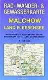 Rad-, Wander- und Gewässerkarte Malchow - Land Fleesensee: Mit Plau am See, Alt Schwerin, Zislow, Nossentiner Hütte, Jabel, Göhren-Lebbin. Maßstab 1:35.000.