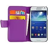 JAMMYLIZARD | Wallet Ledertasche Hülle für Samsung Galaxy S4 Mini, LILA