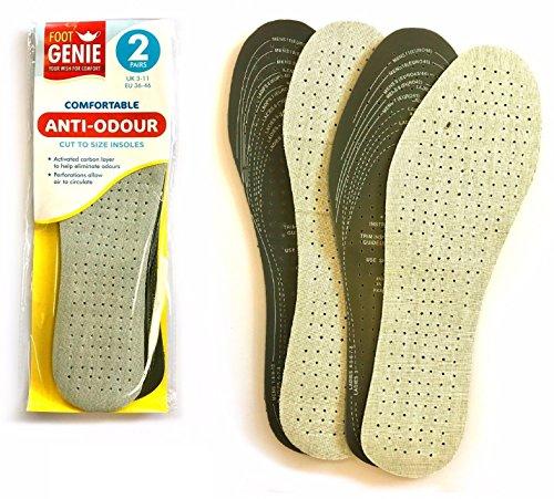Semelles en charbon anti-odeur de qualité supérieure Lizzy® - Semelles de support de pied rembourrées - Semelles unisexe