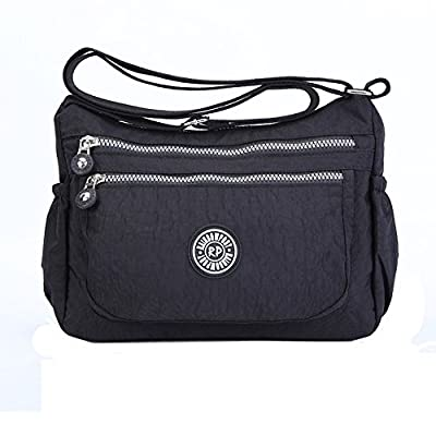 Womens Multi Pocket Casual Handbag Travel Bag Messenger Cross Body Bag