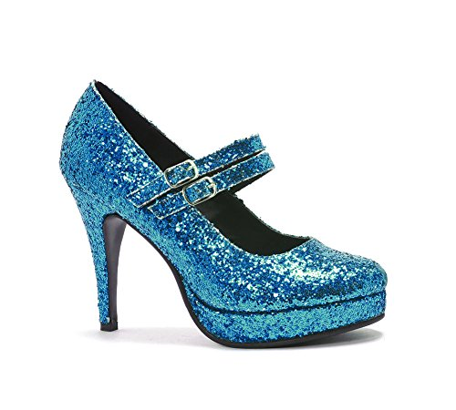 Ellie Schuhe Alice im Wunderland Gr. 7, blau glitzernd