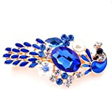 High-end hairpin alloy crystal pearl plate hair accessories adult headdress bride accessories headband 5 colors , blue