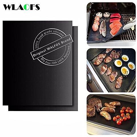 Walfos Grill Matte 2er Set Grillen Backen Grillmatte 0,2 mm