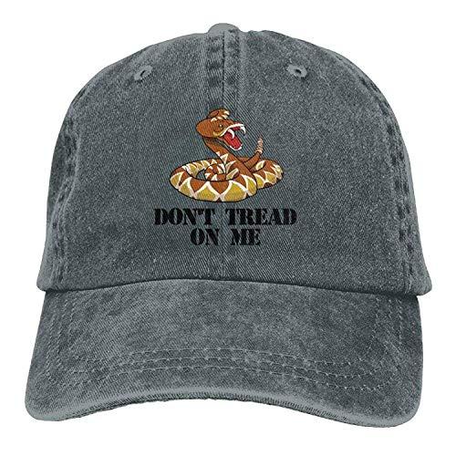 JIEKEIO Funny Baseball Caps Hats Don't Tread On Me Denim Hat Adjustable Men's Plain Baseball Caps