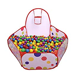 Mudder Kids Ball Pit Pool Play Tent with Mini Basketball Hoop 3.93 Feet