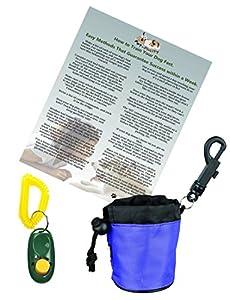 Conseils de dressage de chien Starter Pack–Dog Clicker Training Sheet–comportement d'entraînement antisèche–Sac de friandises de dressage de chien gratuit–complet avec clicker de dressage pour chien