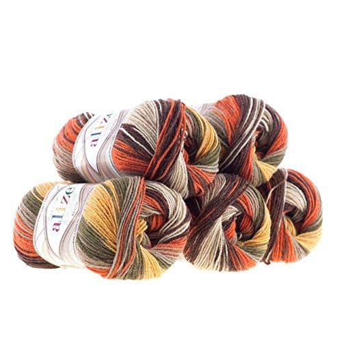 500g Strickgarn Alize Superlana Klasik Batik 25% Wolle, wähle Deine Farbe,...