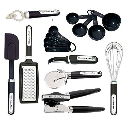 KitchenAid 15-teiliges Werkzeug- und Gadget-Set, Schwarz 16-Piece Set schwarz