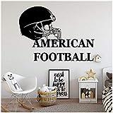 Wandaufkleber DIY Cartoon amercian football Wandbild Removable Wall Decal Decor Wohnzimmer Schlafzimmer Removable Art Decals 57 cm X 78 cm