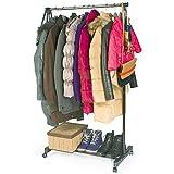 vet italy Stand appendiabiti 80x40x90 cm altezza 164 cm stender abiti singolo e doppio per guardaroba negozio (SINGOLO) X