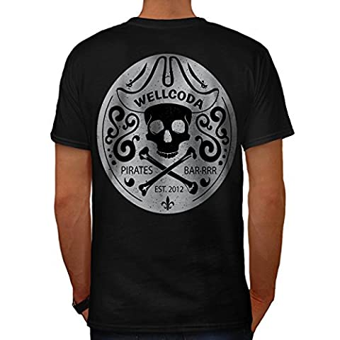 Pirat T Skelett Schädel Kostüm Hut Herren M T-shirt Zurück   Wellcoda (Clown Kostüme Ziel)