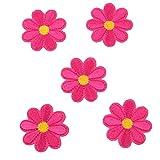 SEVENHOPE 10 Stück Aufbügelbilder Blumen Patches Aufnäher Applikationen Stickerei Rose Blume Nähen Patch Applikationen