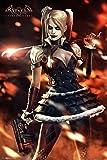 Poster Batman Arkham Knight - Harley Quinn Fire - 61 x 91.5 cm | PostersDE