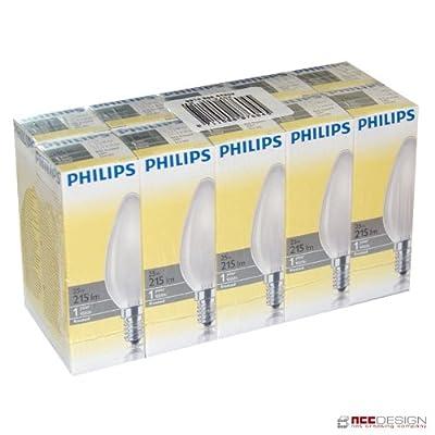 10 x Philips Glühlampe Glühbirne Kerze 25W E14 MATT Glühbirnen Glühlampen Kerzen 25 Watt von Philips - Lampenhans.de
