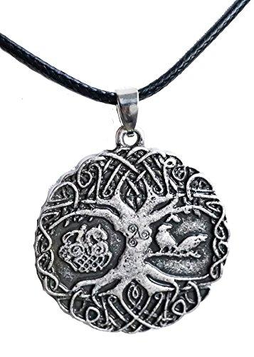 Anhänger / Amulett inkl. Kette, Tree of Life / Weltenbaum / Lebensbaum mit Sleipnir / nordische Mythen / Sagen / Symbolschmuck