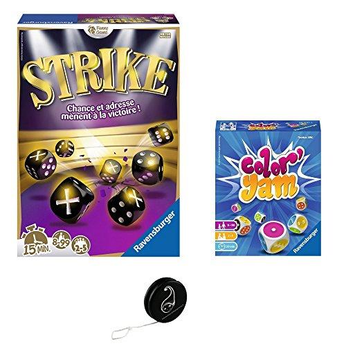 Lot 2 Jeux Ravensburger : Strike + Color'Yam + 1 Yoyo Blumie