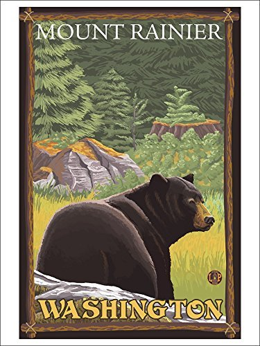 Black Bear In Forest Mount Rainier, Washington (Playing Card Deck 52 Card Poker Size With Jokers)