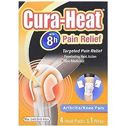 Cura Heat Arthritis Schmerzen Knie - 4-Pack & 1 Wrap, 100 g