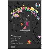 URSUS 3704690se––Cartón fotográfico bloque Edición Especial 300g/m², DIN A4, 10hojas, color negro
