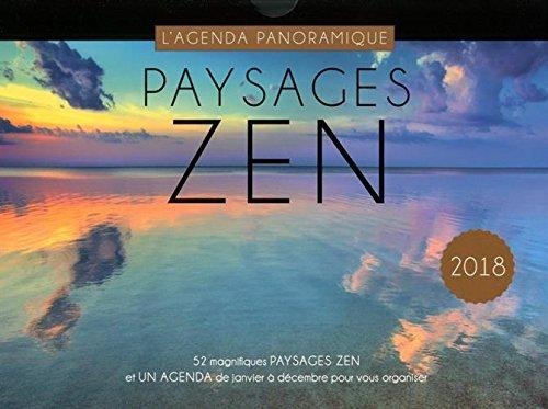 Agenda Panoramic Landscape Zen 2018 por Collectif
