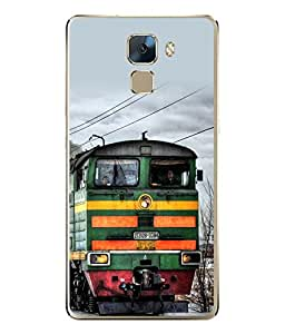 FUSON Designer Back Case Cover for Huawei Honor 7 :: Huawei Honor 7 (Enhanced Edition) :: Huawei Honor 7 Dual SIM (Speed Bullet Train Tourist Transport)