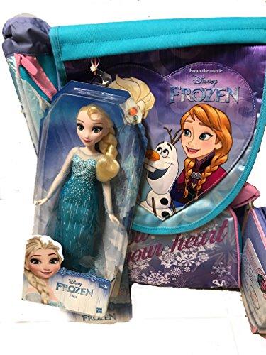 Seven schoolpack frozen. zaino sdoppiabile big + astuccio organizzato 3 zip + fashion doll anna
