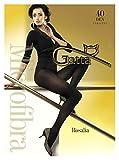 Gatta Fashion Rosalia 40den - blickdichte Damen Feinstrumpfhose aus Microfaser Lycra - Größe 3-M - Schwarz