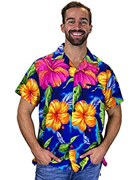 Originale King Kameha | Funky camicia hawaiana | for Men | XS–12x L | maniche corte | front-pocket | hawaiian-print...