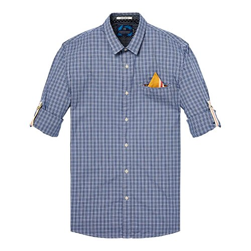 Scotch & Soda Herren Langarm Hemd Classic Shirt 142479 Combo D
