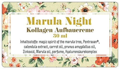 Marula Night, Nachtcreme mit Marula Öl zum Kollagen Aufbau