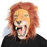 CreepyParty Fiesta de Disfraces de Halloween Máscara de Látex de Cabeza de Animal León