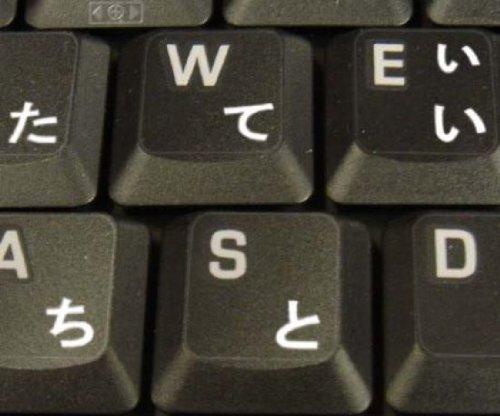 Pegatinas teclado Japonés transparente letras BLANCAS