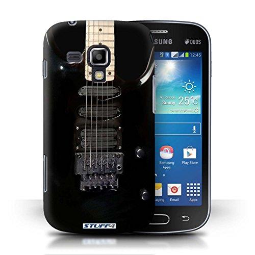 Kobalt® Imprimé Etui / Coque pour Samsung Galaxy S Duos/S7562 / Noir Electrique conception / Série Guitare Noir Electrique