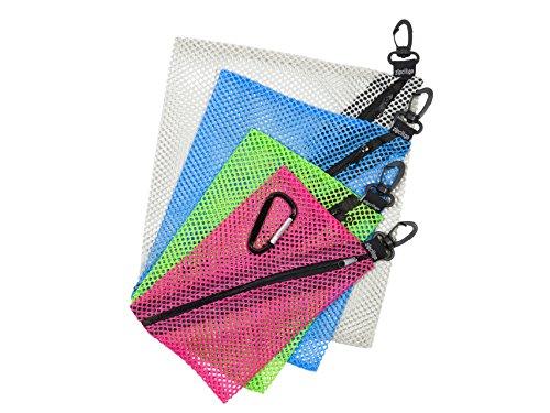 ZipClikGo Steckbare Netz Organizer-Taschen Multi-Zweck Lagerung Zip-Beutel in vier Größen und Farben, leicht zu erreichen -