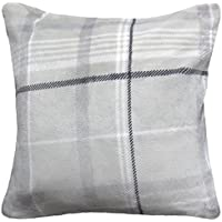 ShawsDirect Luxury Soft Check Fleece Cushion Cover 43cm X 17