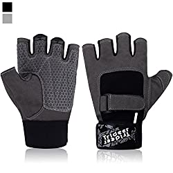 Trideer Breatheable Gym Gloves, Full Palm Protection & Extra Grip & Anti-slip Weight Lifting Gloves For Workout, Training, Fitness, Bodybuilding & Exercise - Men & Women