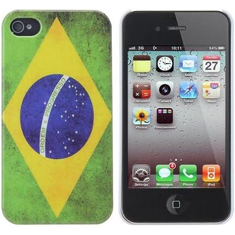 Cubierta del caso del patrón de la Copa Mundial de la vendimia del estilo de Brasil para el iPhone 4