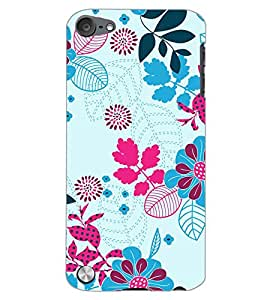PrintDhaba LEAF PATTERN D-6834 Back Case Cover for APPLE IPOD TOUCH 5 (Multi-Coloured)