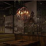 Vintage Kronleuchter, Antike Industrielle Metall Pendelleuchten LOFT Laterne Hängende Lichter 4 Lichter Restaurant Bar Deckenleuchten E14 Sockel