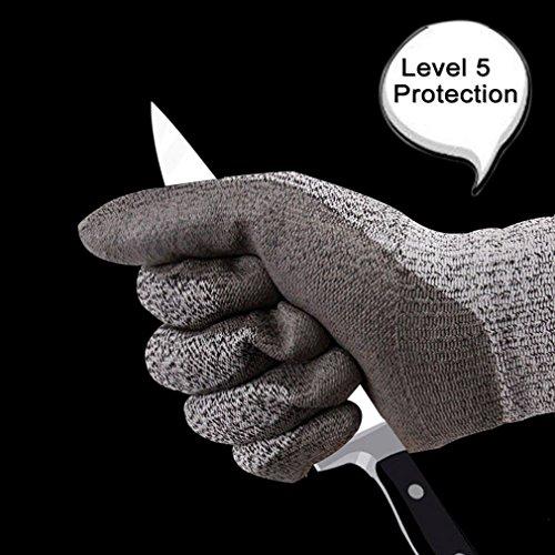 LaDicha Schnittfest Handschuhe Level 5 Schutz Food Grade En388 Zertifizierte Schutzhandschuhe Für Outdoor Angeln-7