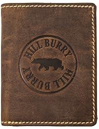 Hill Burry Portefeuille Cuir Véritable Homme | Porte-Monnaie en Cuir véritable de première qualité | Porte-Monnaie en Cuir de qualité pour Homme avec Un Look Vintage | Porte-Cartes pour Homme