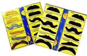 N$B® 24 Bärte im Set 18 Schwarze 4 Braune und 2 Graue