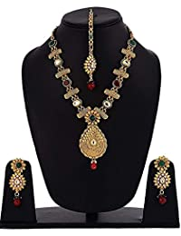 YouBella Jewellery Gold Plated Necklace Jewellery Set With Earrings For Girls/Women (Choker3)