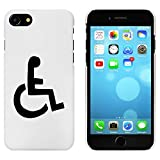 Azeeda Weiß 'Rollstuhl-Symbol' Hülle für iPhone 7 (MC00069848)