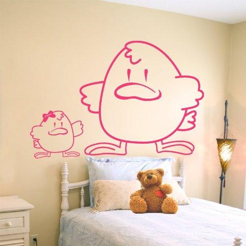 STIKID - CHICKENS -107x62 cm- Wall Stickers - Wandtattoo Wallsticker - aufkleber - decal - kinder deco