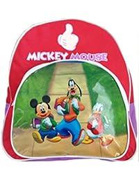 Petit sac à dos Mickey Disney enfant école rouge Dingo Donald 29cmx25cmx8cm